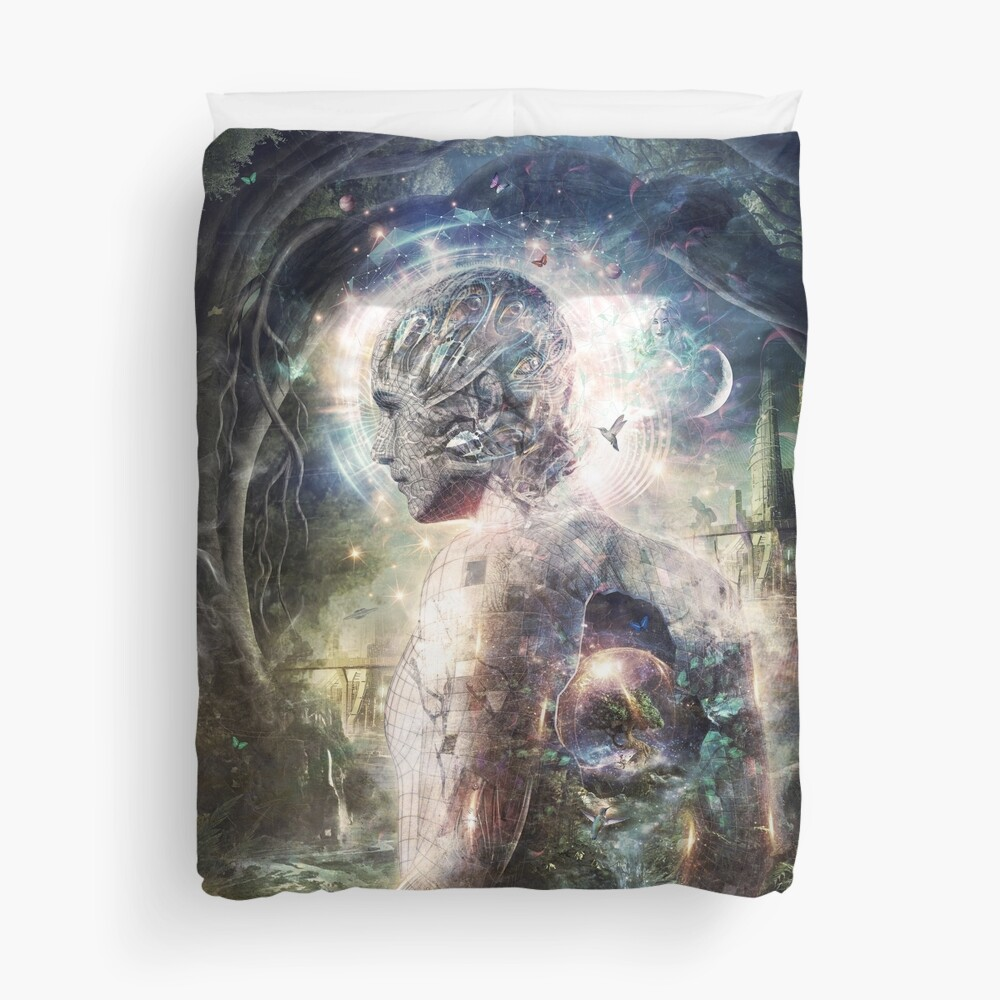As The Dark Turns To Day Duvet Cover