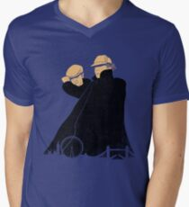 Hatman and Robin v.2 Men's V-Neck T-Shirt