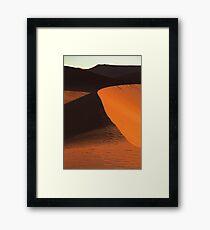 Desert Dune Detail Framed Print