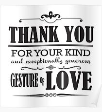 say thank you posters redbubble