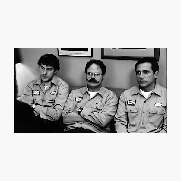 Jim, Dwight and Michael at Utica Photographic Print