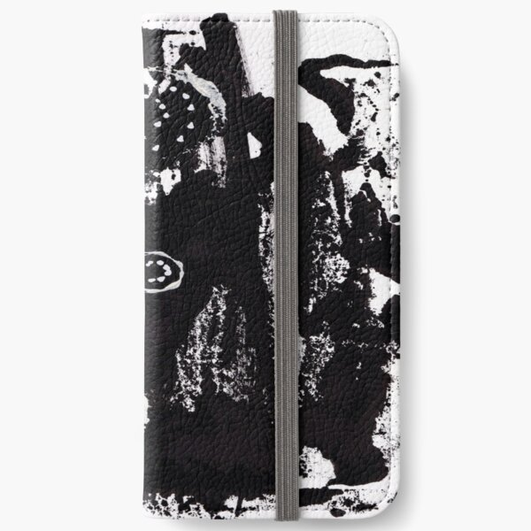 Black & White Abstract 2 iPhone Wallet