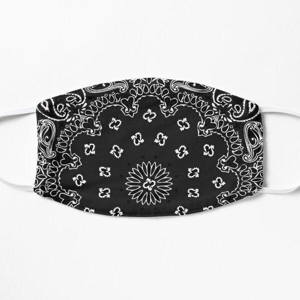 Style bandana classique (version NOIRE) Masque sans plis