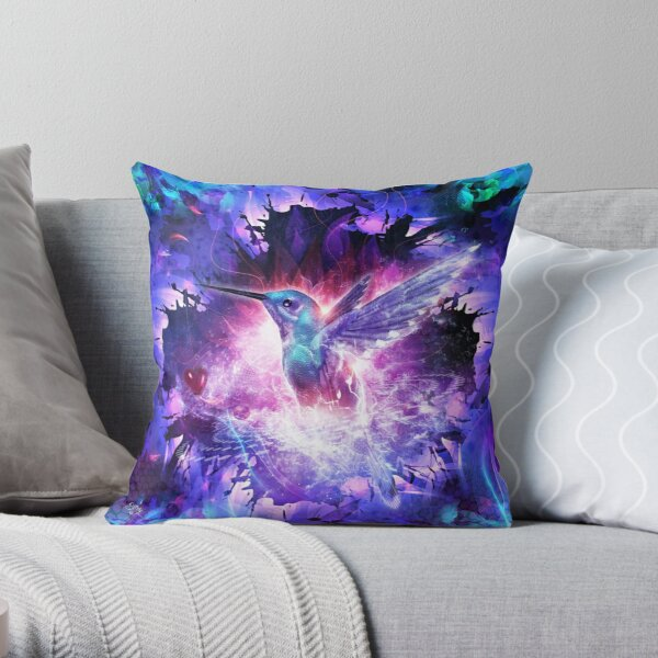 Hummingbird Love Throw Pillow