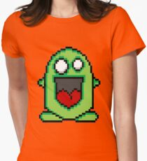 Pixel Friendly Monster Womens Fitted T-Shirt
