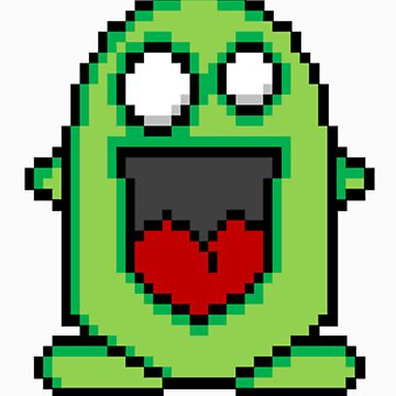 Pixel Friendly Monster by valelanz94