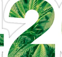 420 Green Sticker