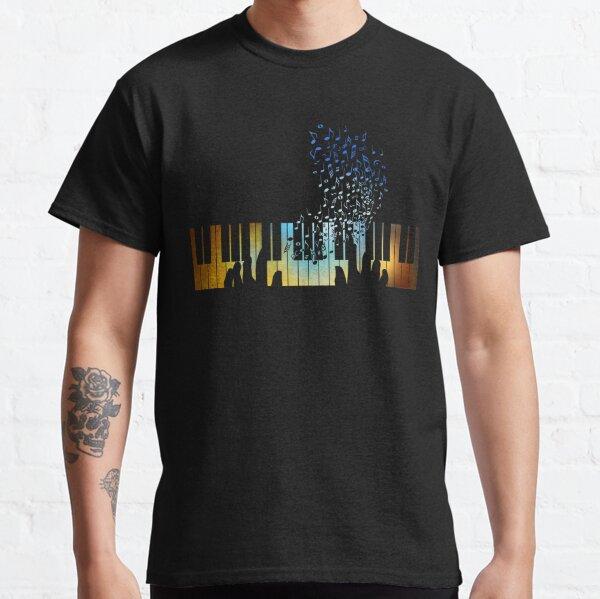 Hands Playing on Piano Keyboard Gift for Music Teacher Shirt Classic T-Shirt