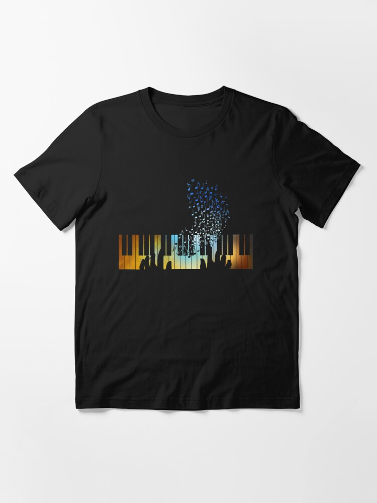 Alternate view of Hands Playing on Piano Keyboard Gift for Music Teacher Shirt Essential T-Shirt