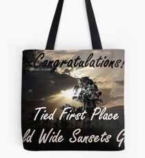Tied First Place - World Wide Sunsets - Challenge Banner Tote Bag