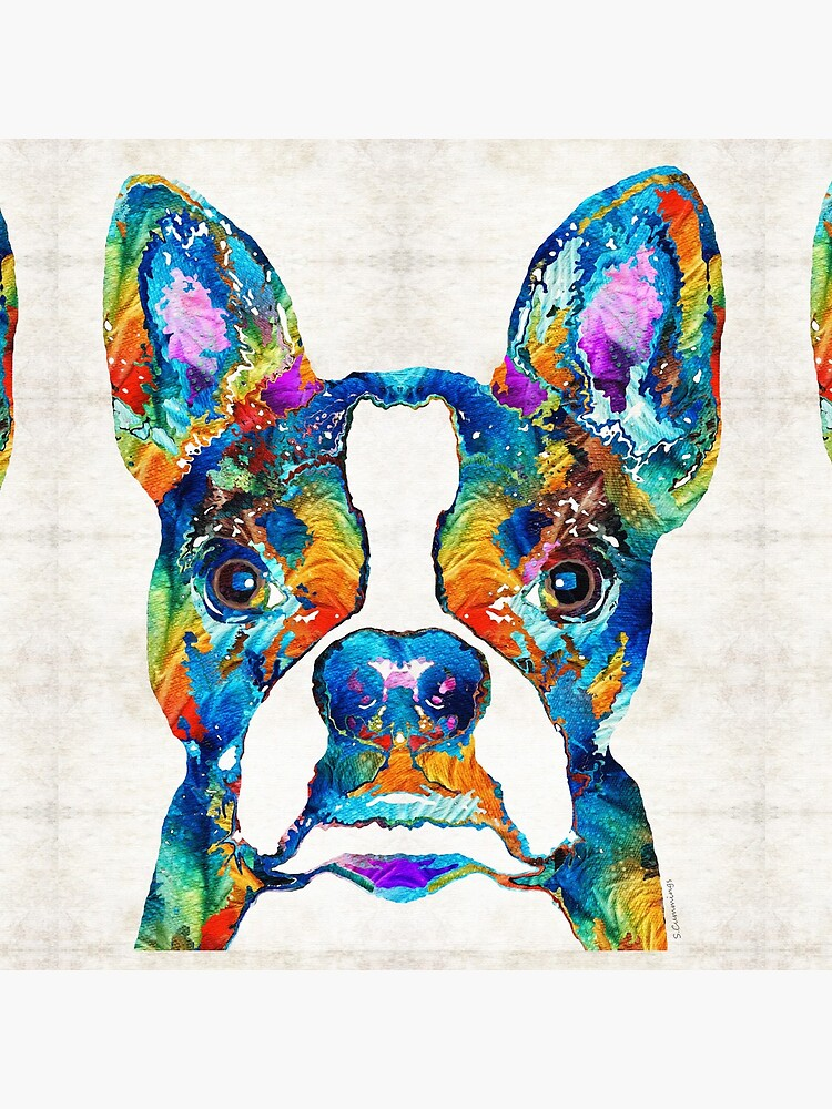 Colorful Boston Terrier Dog Pop Art - Sharon Cummings by SharonCummings
