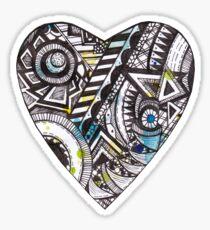Patterned Heart Sticker