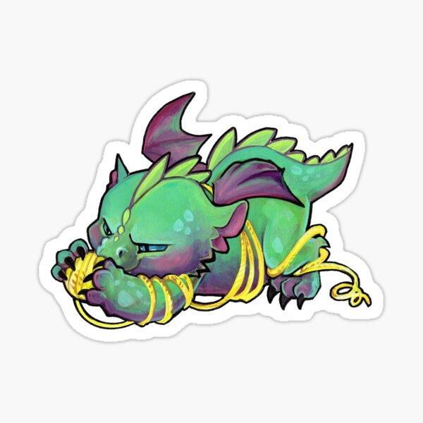 Yarn dragon Sticker
