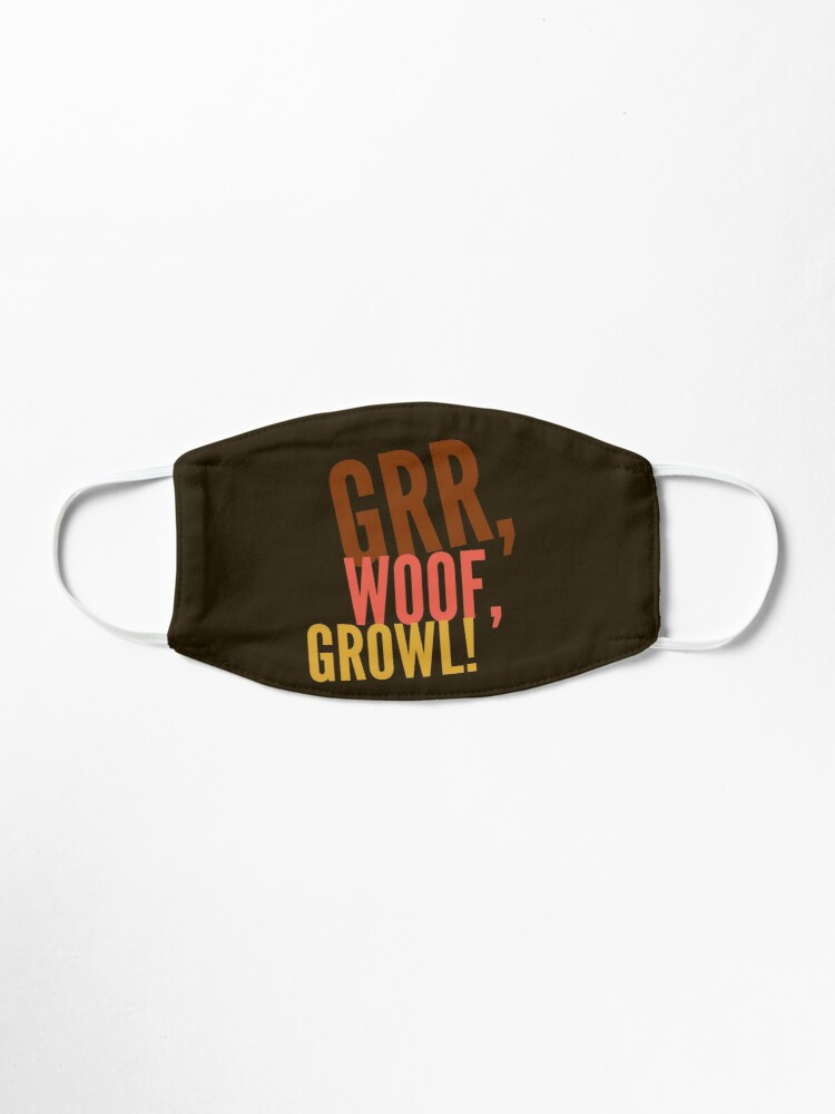 Alternate view of Grr, Woof, Growl Mask