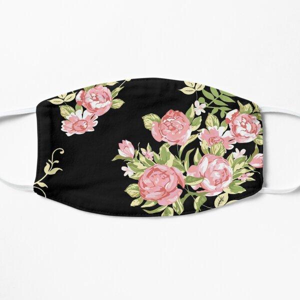 Vintage Black and Pink Floral Flat Mask