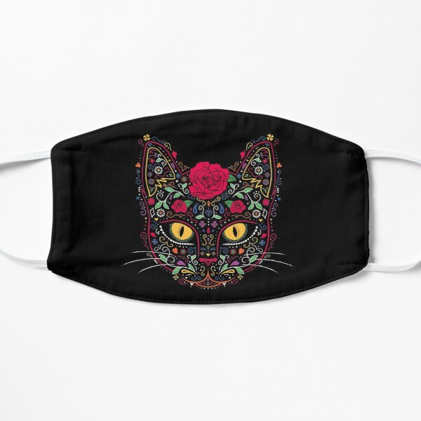 Day of the Dead Kitty Cat Sugar Skull Mask