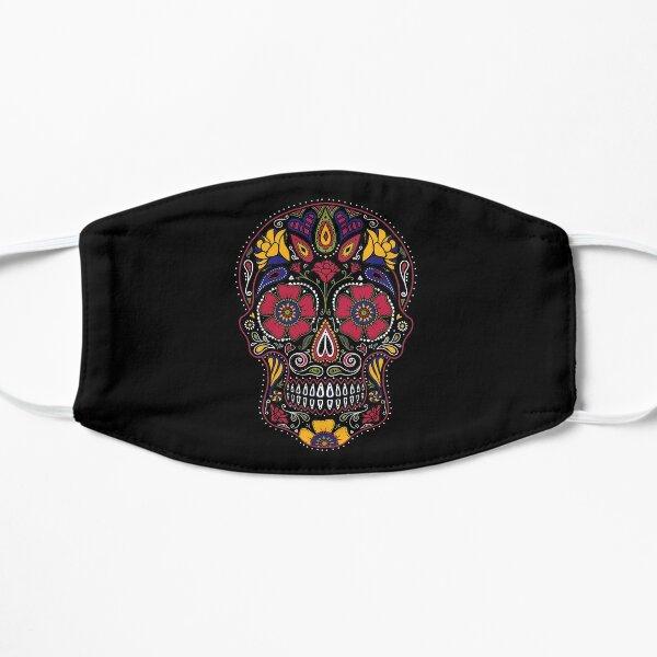 Day of the Dead Sugar Skull Dark Flat Mask