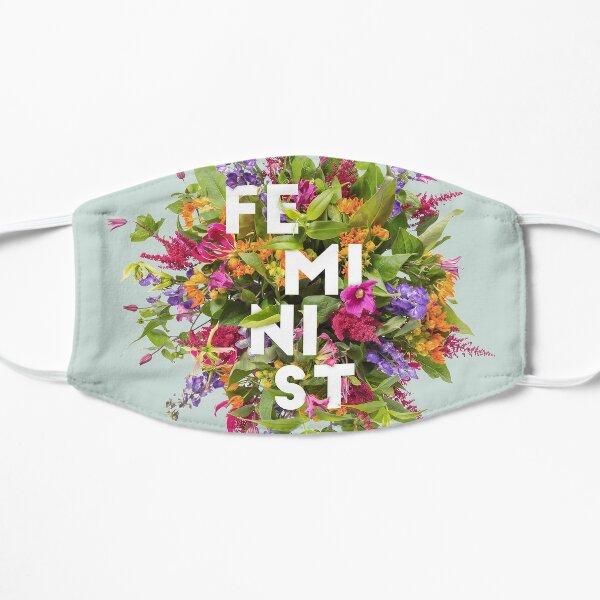 Floral Feminist Flat Mask