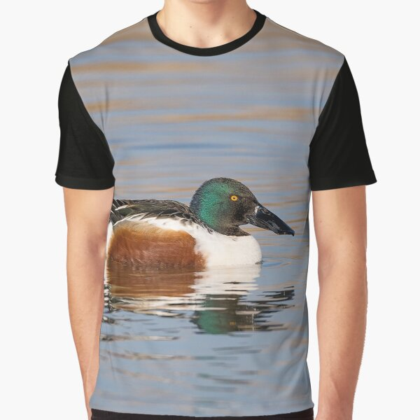 The northern shoveler (Spatula clypeata) Mestolone (male duck) Graphic T-Shirt