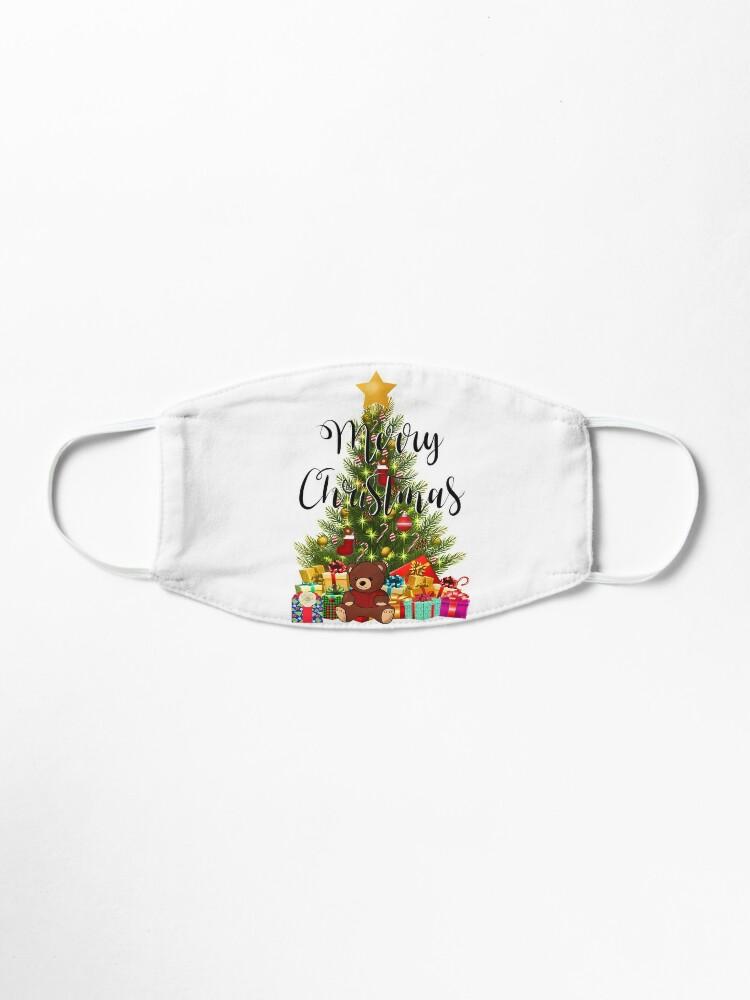 Christmas Decoration Teddy Bears Merry Christmas Christmas Wishes Christmas Gift Idea Mask By Bambino12345678 Redbubble