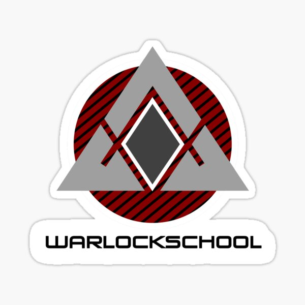 Warlock school original Sticker