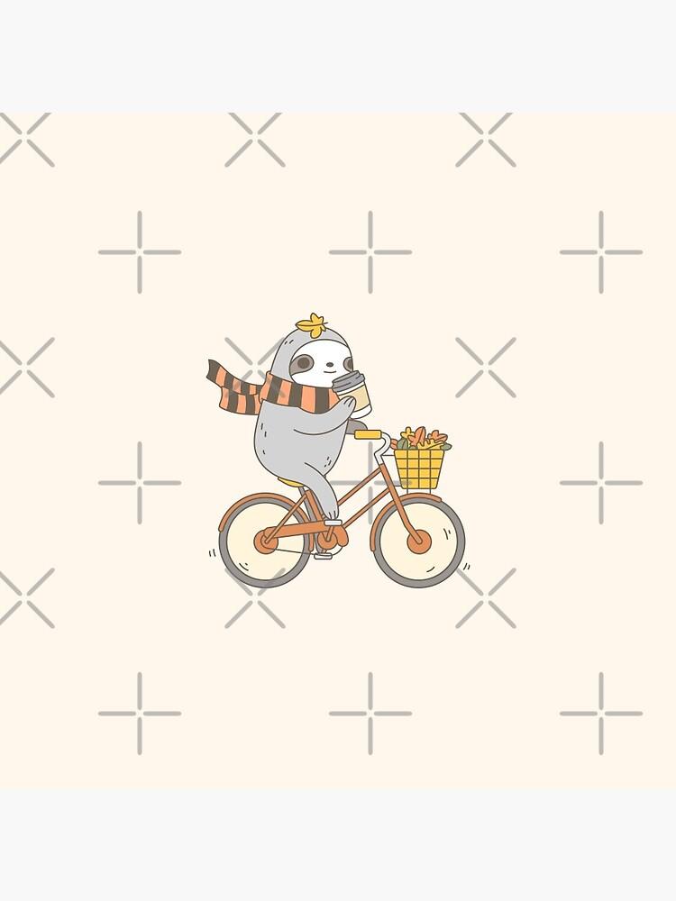 Fall Biking Sloth  by Miri-Noristudio