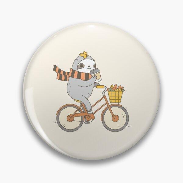 Fall Biking Sloth  Pin