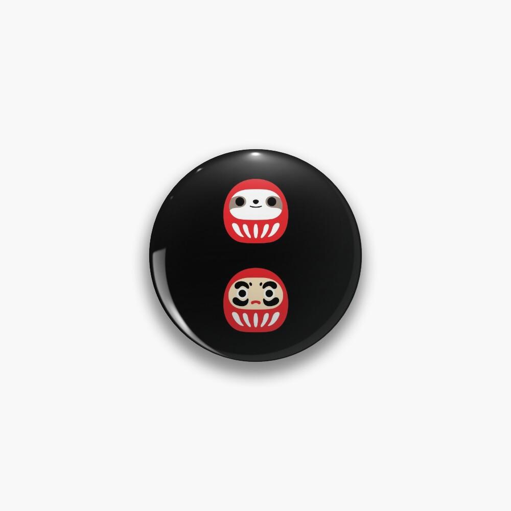 Sloth Daruma Doll  Pin