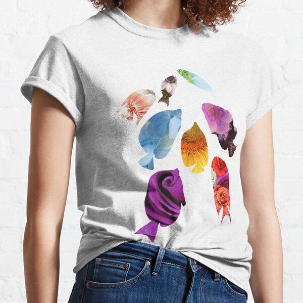 Fish shaped Flowers Classic T-Shirt