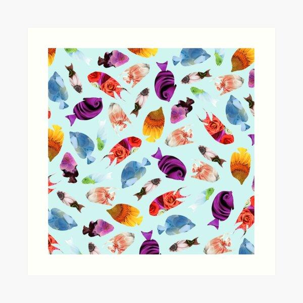 Fish shaped Flowers Art Print