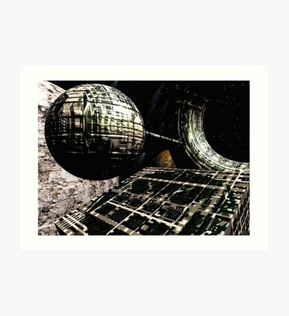The Flight Across the Three Universes #1 - Flying Cities Art Print