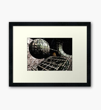 The Flight Across the Three Universes #1 - Flying Cities Framed Print