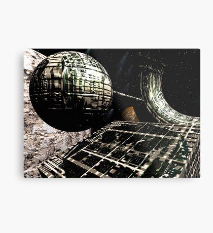 The Flight Across the Three Universes #1 - Flying Cities Metal Print