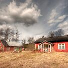 Red country house by Elisabeth van Eyken
