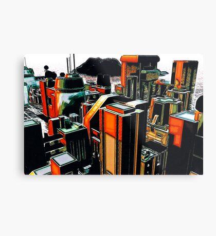 The Flight Across the Three Universes #2 - Utopia City Dawns #1 Metal Print