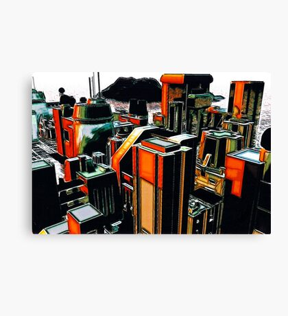 The Flight Across the Three Universes #2 - Utopia City Dawns #1 Canvas Print