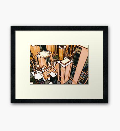 The Flight Across the Three Universes #3 - Utopia City Dawns #2 Framed Print