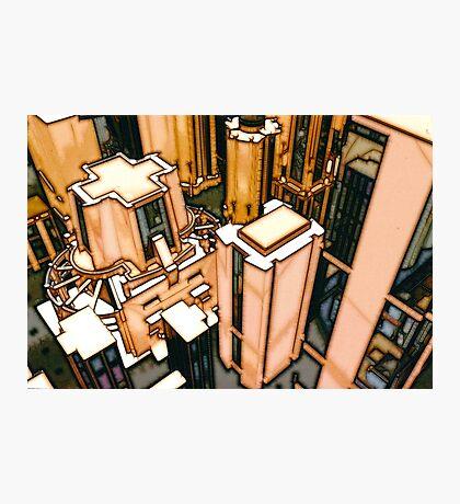 The Flight Across the Three Universes #3 - Utopia City Dawns #2 Photographic Print