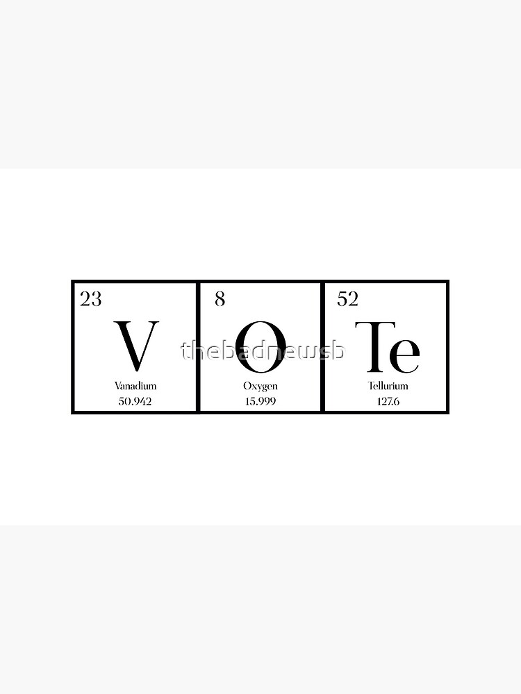 VOTE (Chemistry Version)  by thebadnewsb