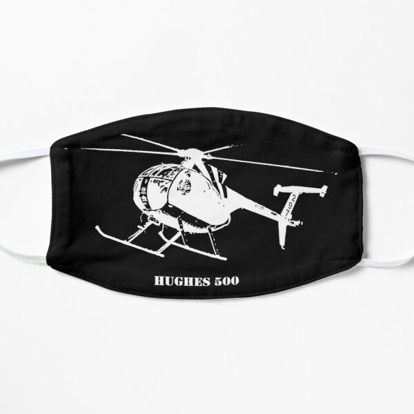 Hughes 500 in White Flat Mask