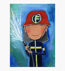 Firefighter for Kids Photographic Print