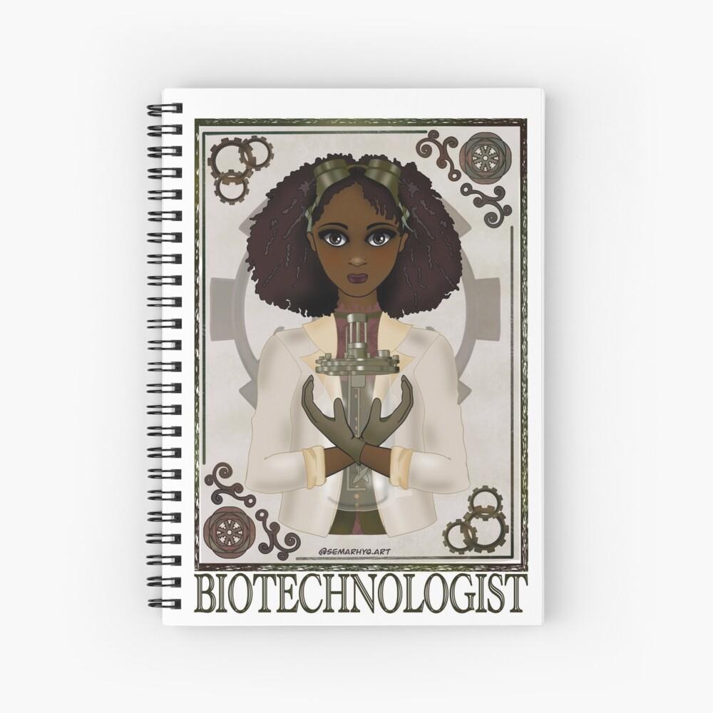 Biotechnologist (SteamPunk Art) Spiral Notebook