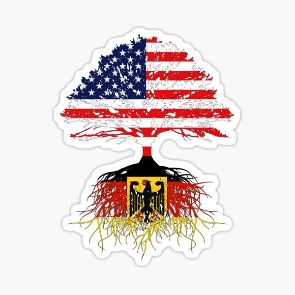 German Roots , German American, Germany  Grown, Germany USA Flag, Germany Art Design Gift Present For Men Women Kids Youth Sticker