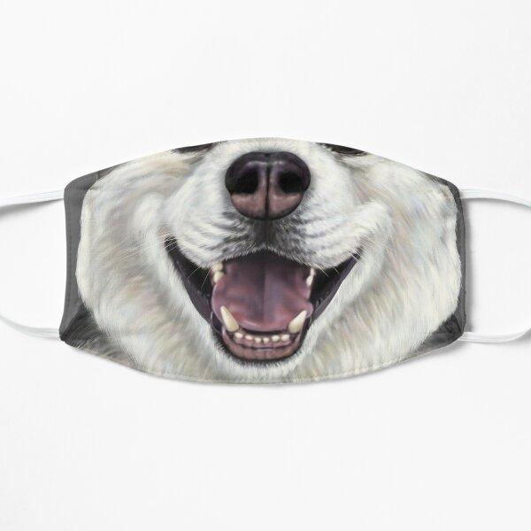 Siberian Husky - Up close dog Flat Mask