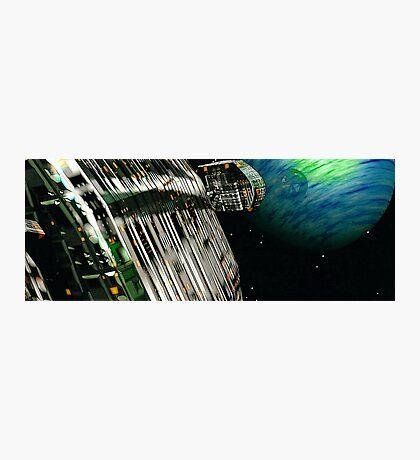 The Flight Across the Three Universes #7 - Fortune's Landing Photographic Print