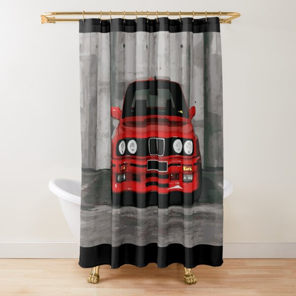 Red Sports Car - Front Shower Curtain