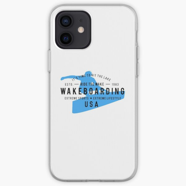 Ride The Wake Wakeboarding iPhone Soft Case