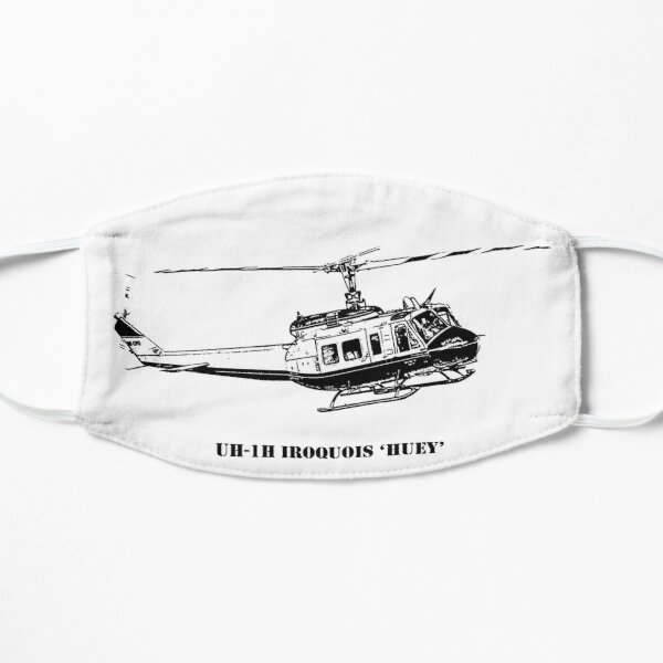 Huey Helicopter Graphic Flat Mask