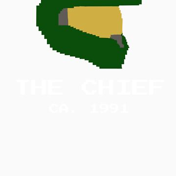8 Bit Masterchief by Coattails