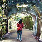 Quinta da Regaleira - a pathway by Jo-anne Corteza